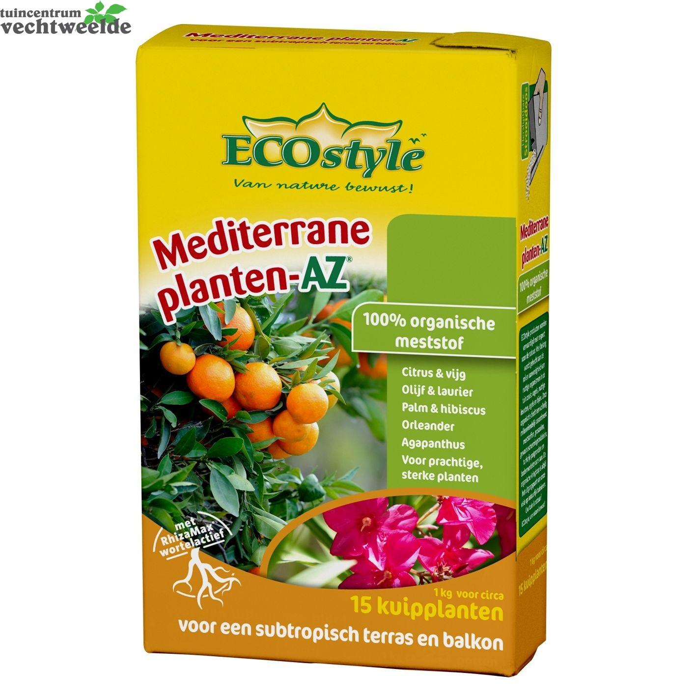 Ecostyle mediterrane planten az 1 kg meststof buitenplanten organisch tuincentrum vechtweelde - Zoals mediterrane ...