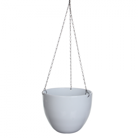 Hangpot tusca d22.50h19.50cm wit - afbeelding 1